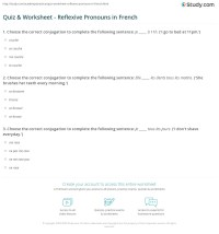 Quiz & Worksheet - Reflexive Pronouns in French | Study.com