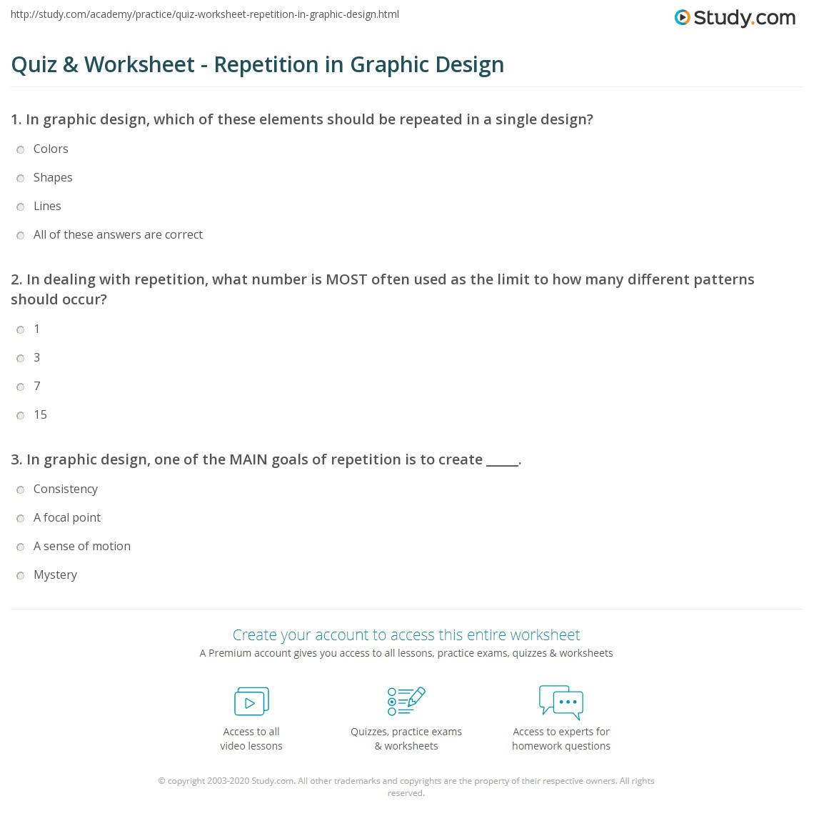Repetition Pattern Worksheet