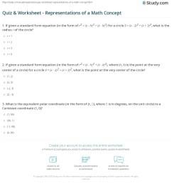Quiz \u0026 Worksheet - Representations of a Math Concept   Study.com [ 1226 x 1140 Pixel ]