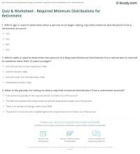 Worksheets. Ira Required Minimum Distribution Worksheet ...