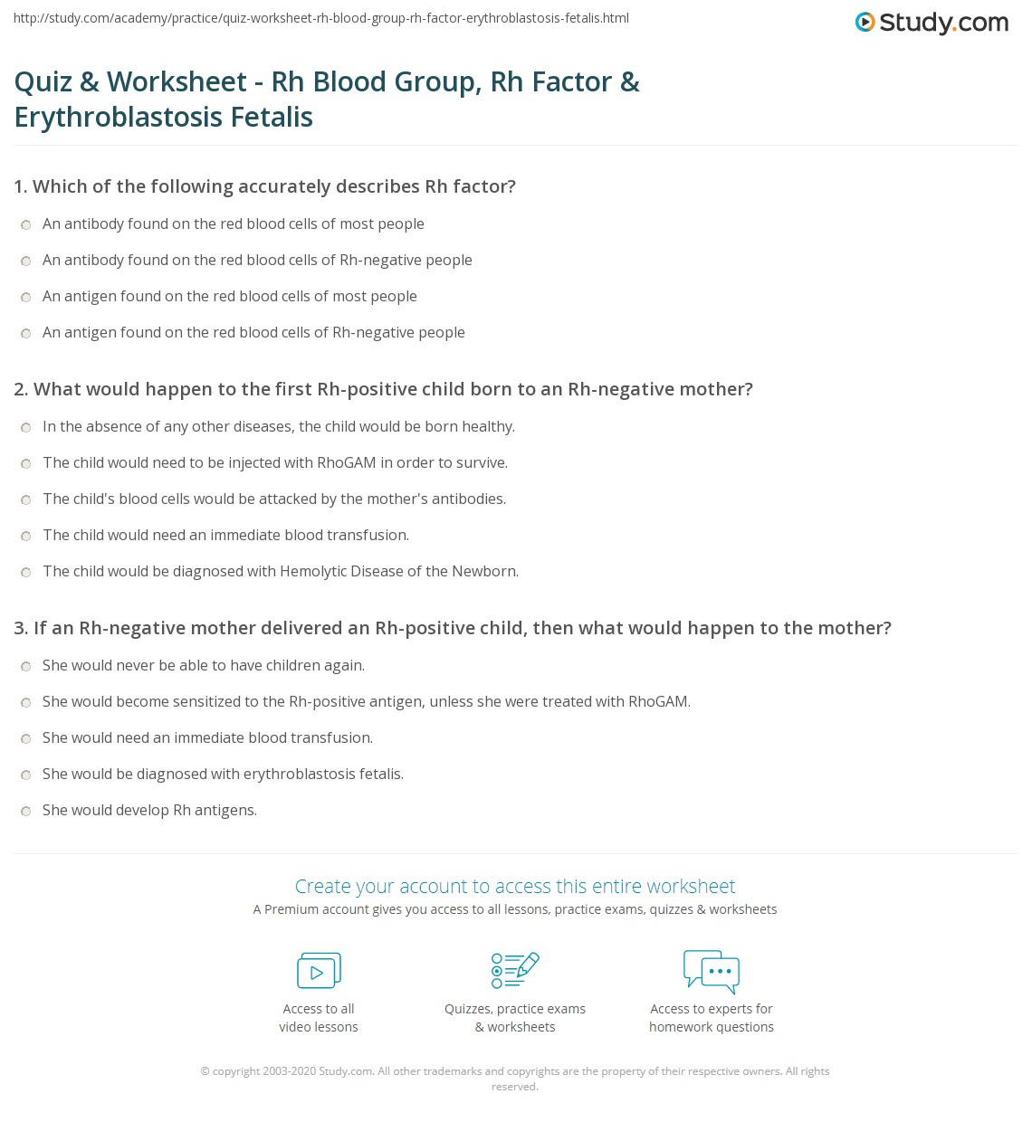 29 Blood Type Baby Mystery Worksheet Answers