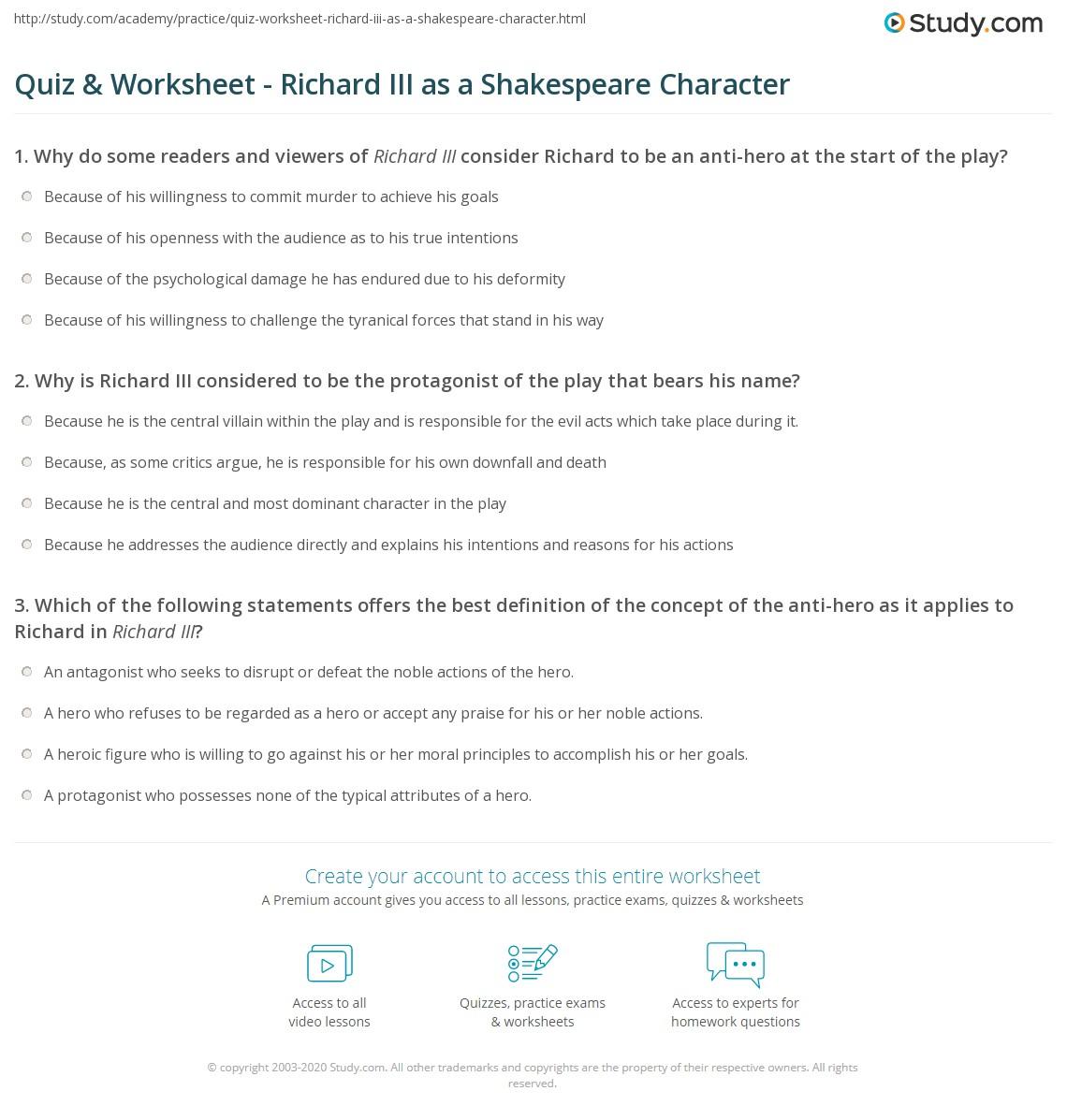 Shakespeare Richard Iii Essays