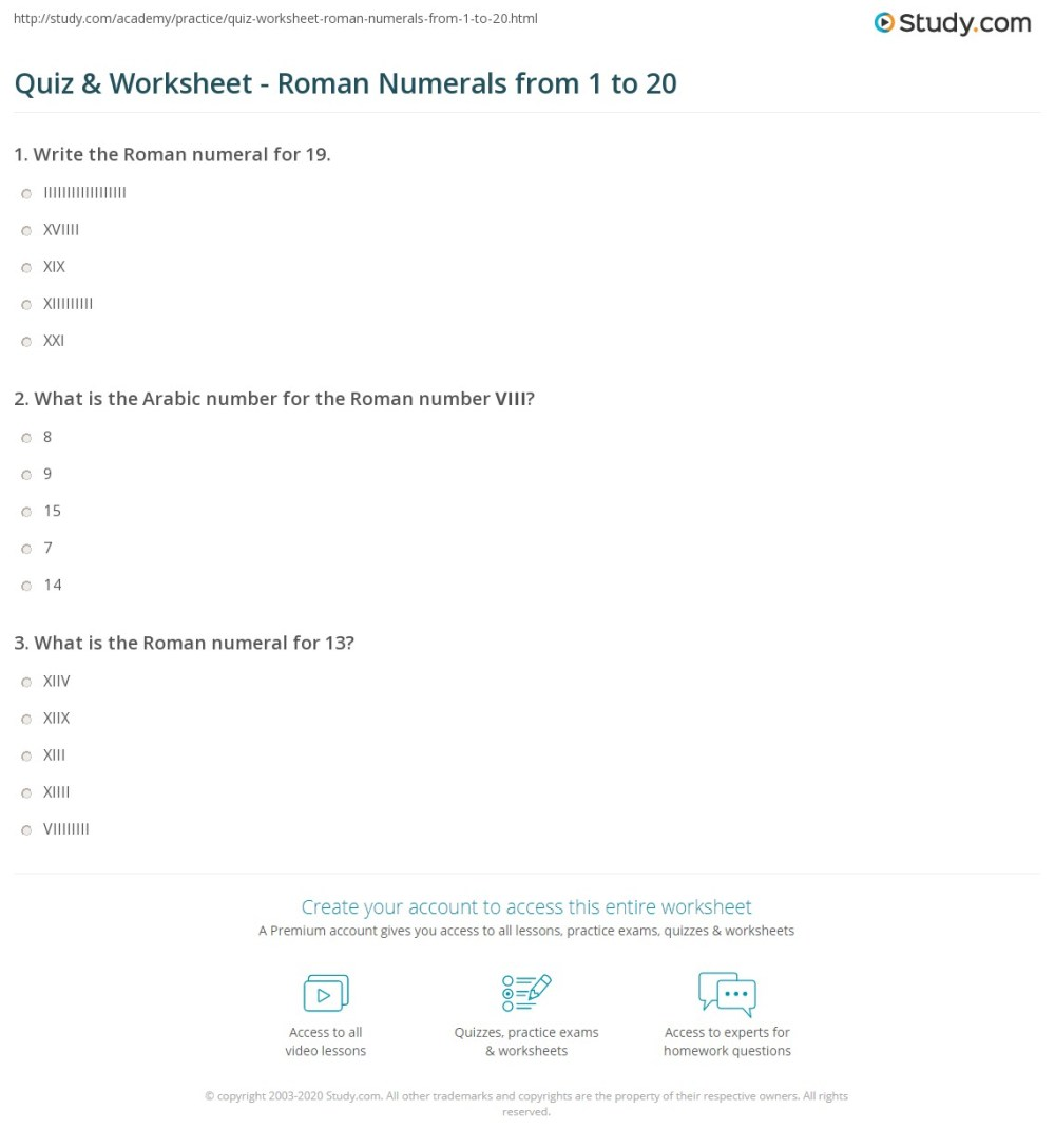 medium resolution of Roman Numeral Number Series Worksheets   Printable Worksheets and  Activities for Teachers