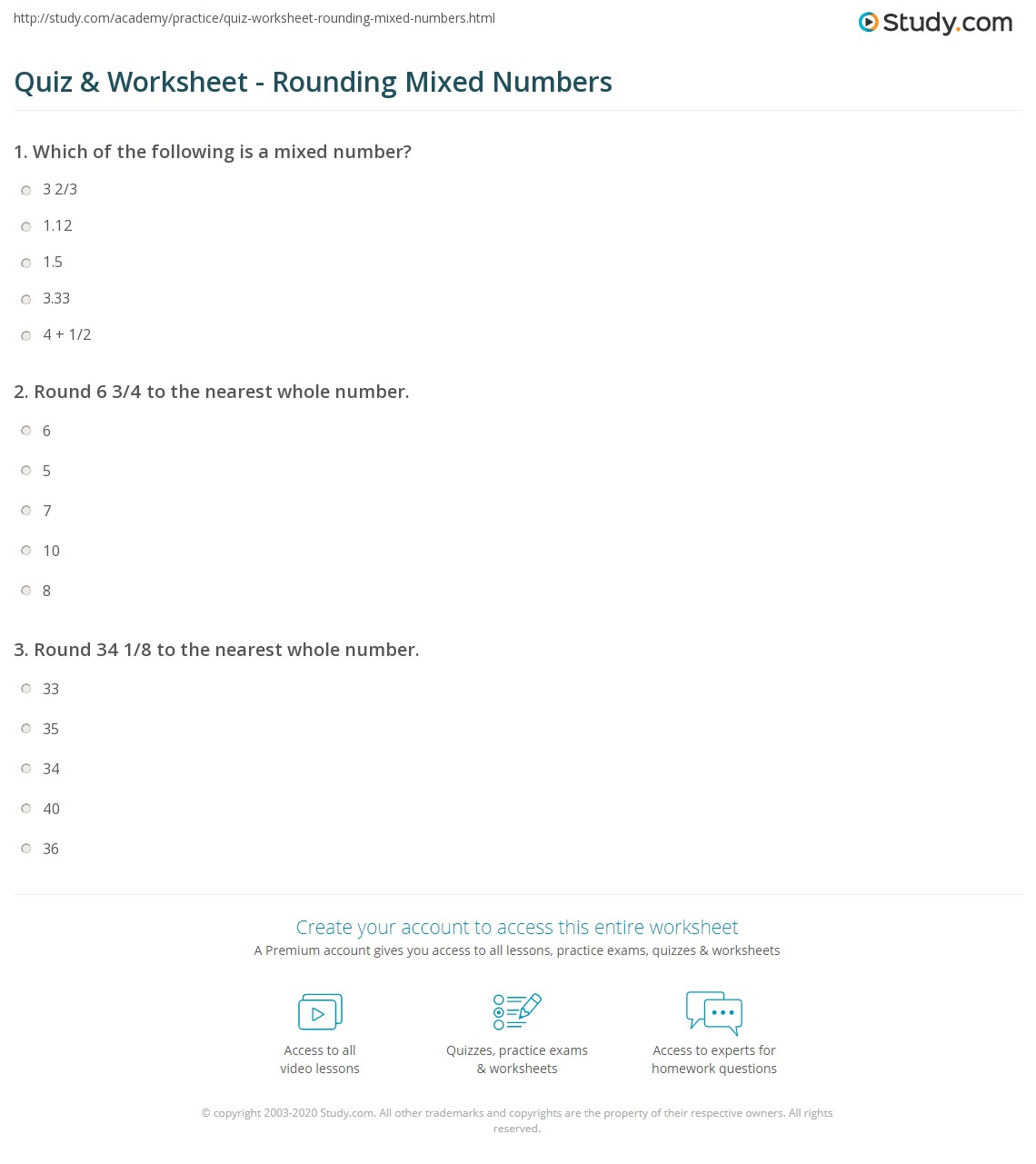 hight resolution of Mixed Rounding Worksheets   Printable Worksheets and Activities for  Teachers