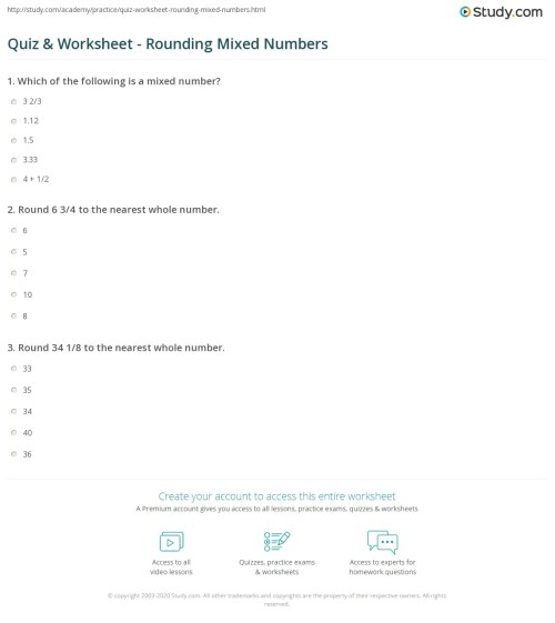 small resolution of Mixed Rounding Worksheets   Printable Worksheets and Activities for  Teachers