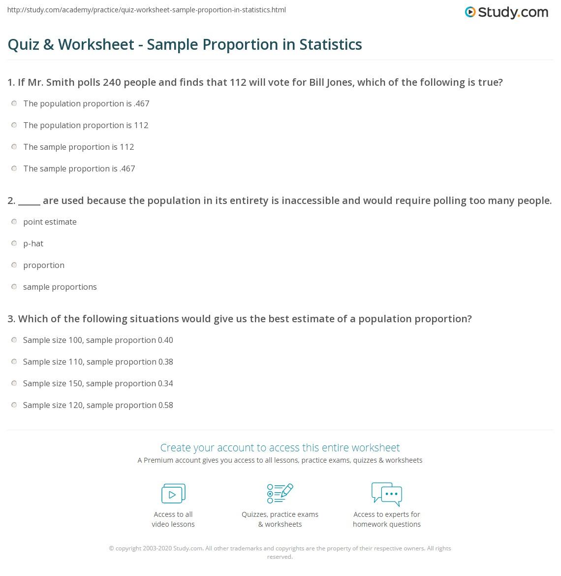 Statistics Definitions Worksheet