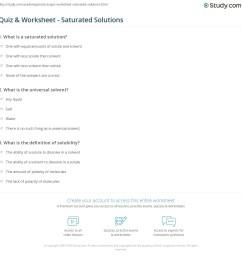 Quiz \u0026 Worksheet - Saturated Solutions   Study.com [ 1169 x 1140 Pixel ]