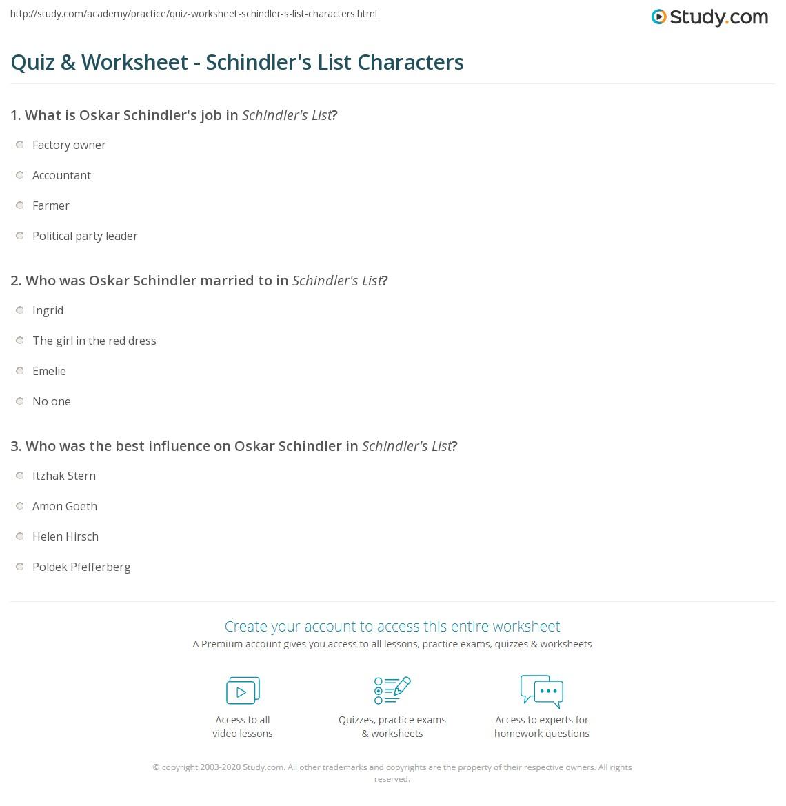 Schindler List Summary Essay