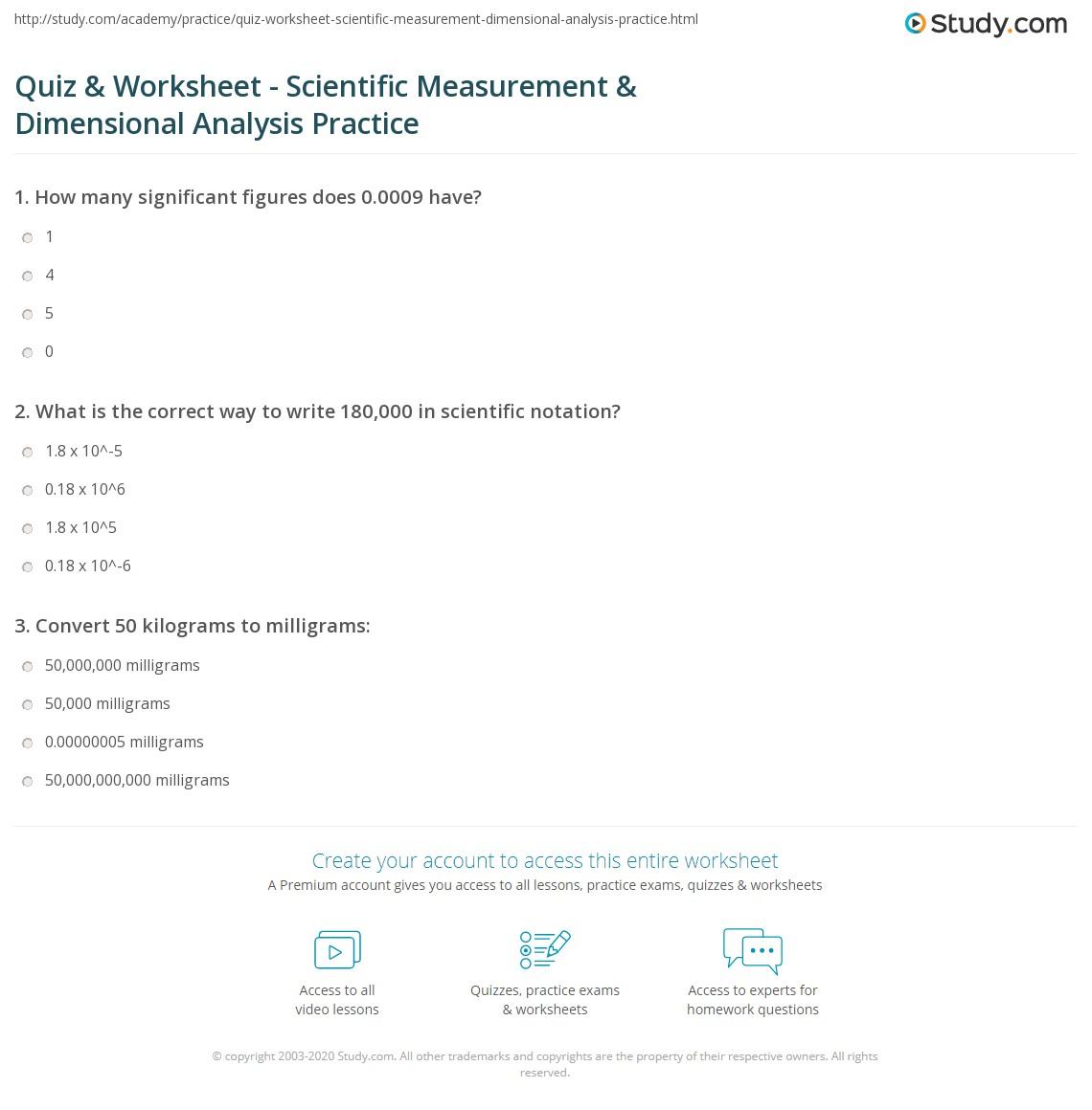 hight resolution of Dimensional Analysis Practice Worksheet