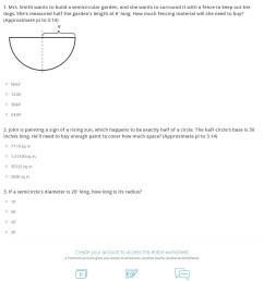 Quiz \u0026 Worksheet - Semicircle Perimeter \u0026 Area Formulas   Study.com [ 1487 x 1140 Pixel ]