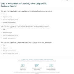 Sets And Venn Diagrams Worksheets With Answers Fluorescent Electronic Ballast Wiring Diagram Quiz Worksheet Set Theory Exclusive