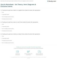 print set theory venn diagrams exclusive events worksheet [ 1140 x 1415 Pixel ]