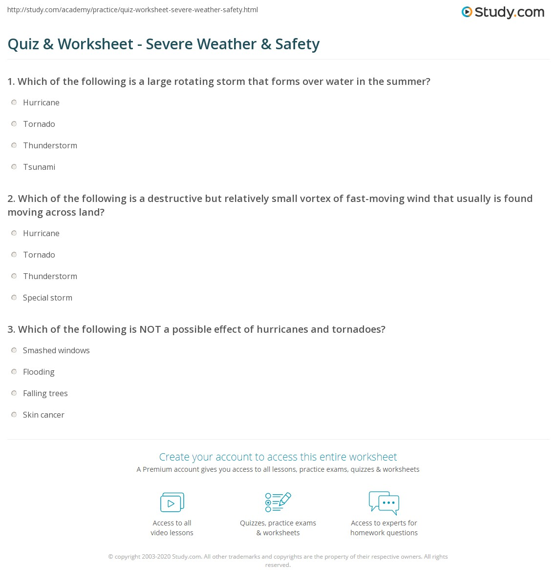 hight resolution of Extreme Weather Worksheet Answers - Promotiontablecovers