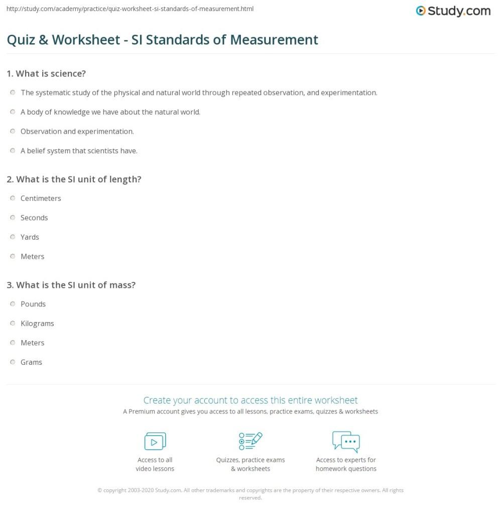 medium resolution of 35 Standards Of Measurement Worksheet - Worksheet Resource Plans