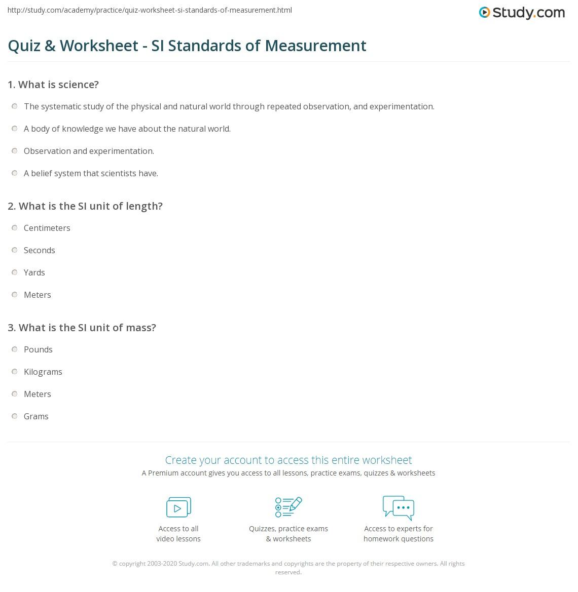 hight resolution of 35 Standards Of Measurement Worksheet - Worksheet Resource Plans