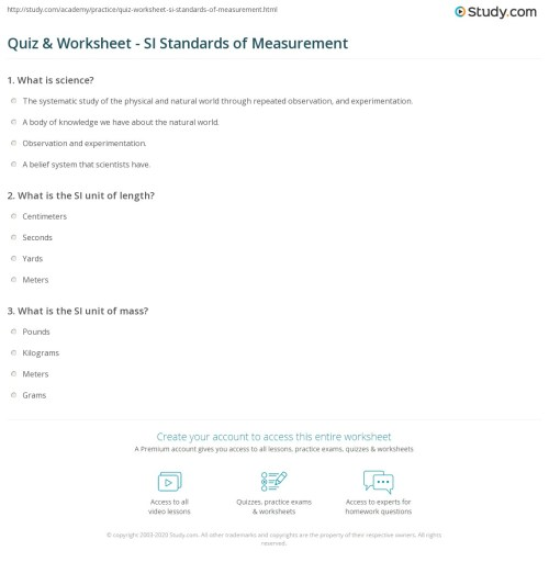 small resolution of 35 Standards Of Measurement Worksheet - Worksheet Resource Plans