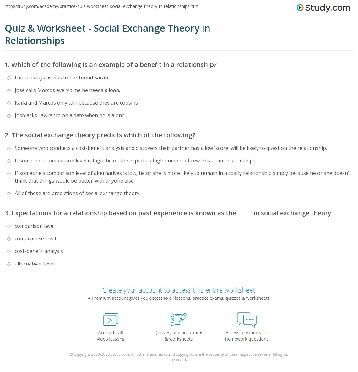 Essay On Social Exchange Theory