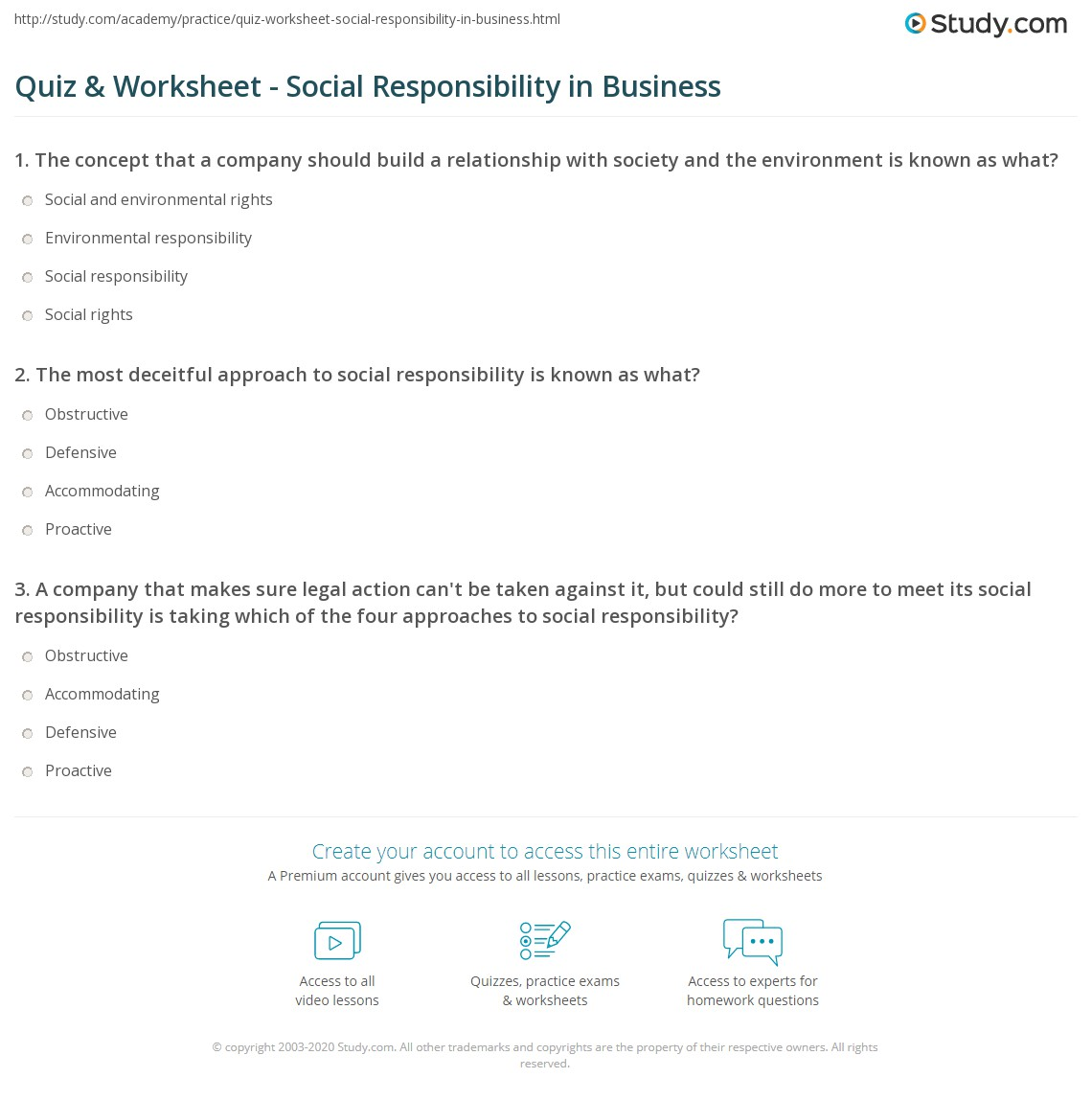 Taking Responsibility For Your Actions Worksheet
