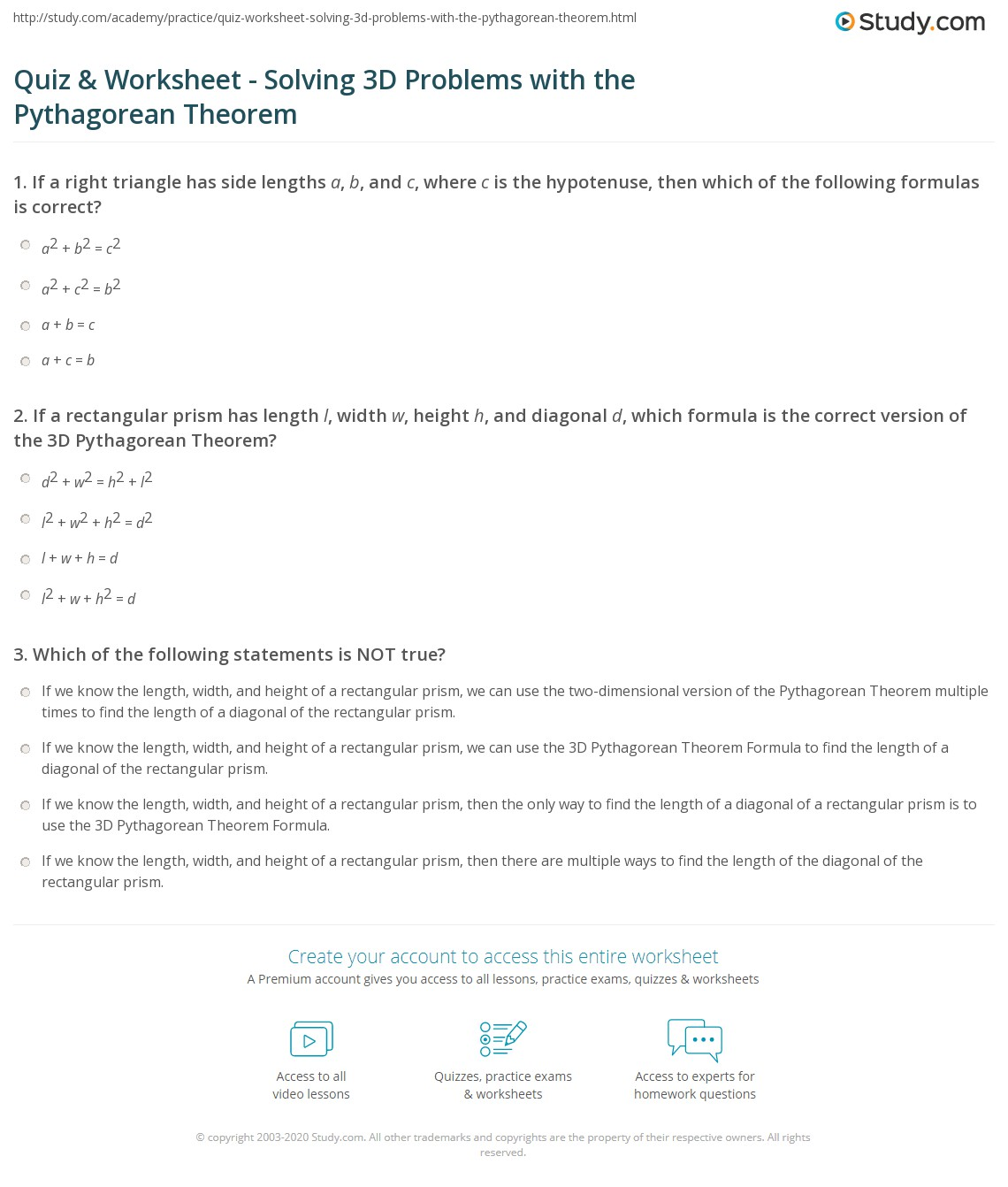 26 Pythagorean Theorem Word Problems Independent Practice