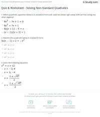 Solving Quadratic Equations Worksheets - Rcnschool