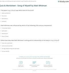Quiz \u0026 Worksheet - Song of Myself by Walt Whitman   Study.com [ 1169 x 1140 Pixel ]