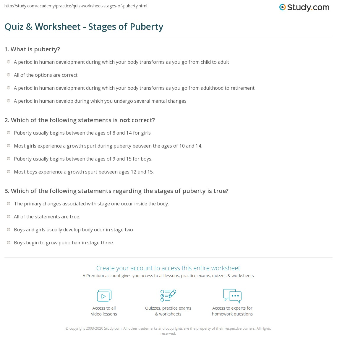 Printables Puberty Worksheets Tempojs Thousands Of