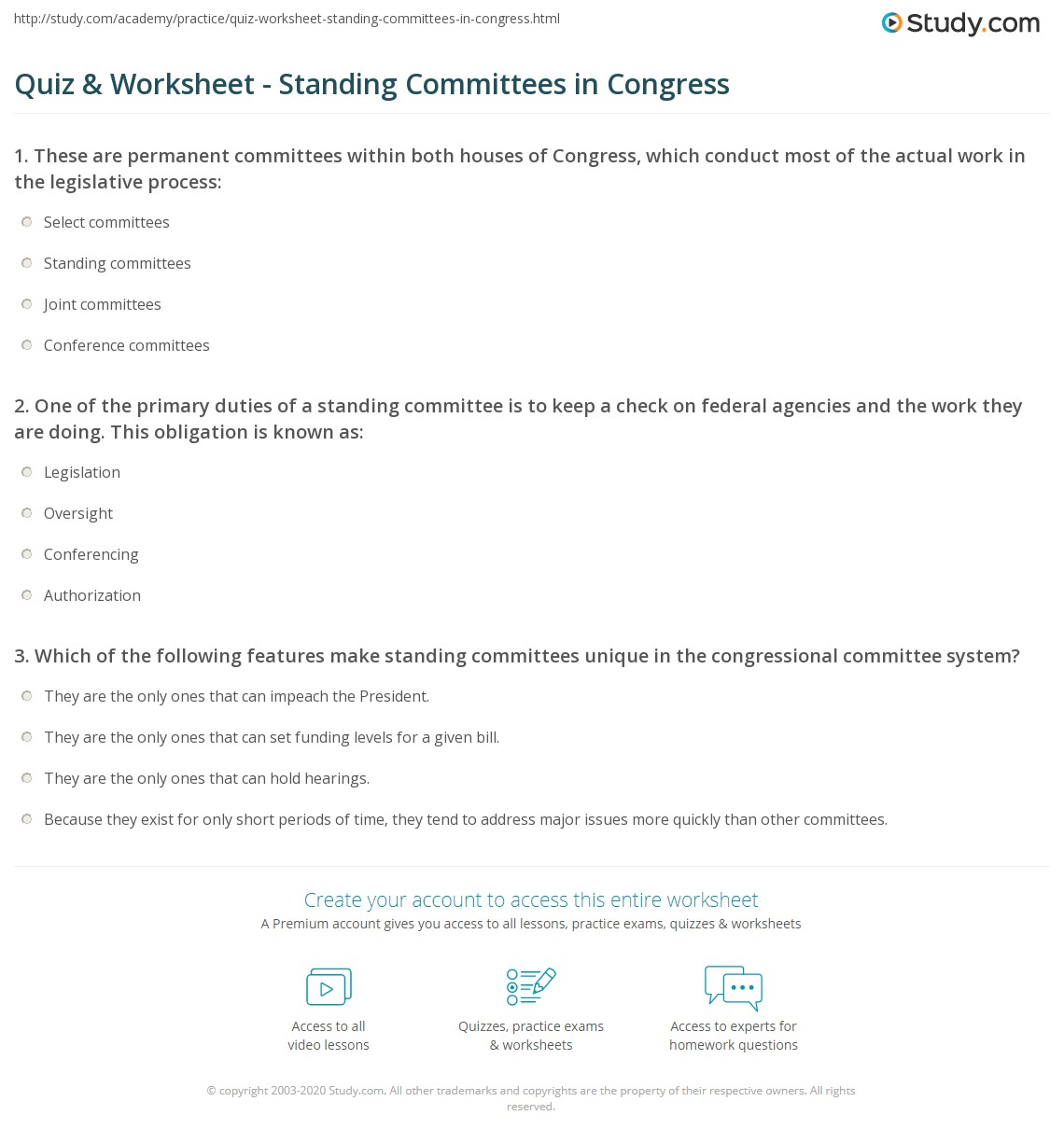 27 Congress At Work Legislative Process Worksheet Answers