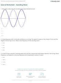 28+ [ Wave Worksheet 1 ] | Chapter 20 Traveling Waves 20 1 ...