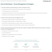Stress Management Worksheets Photos - Getadating