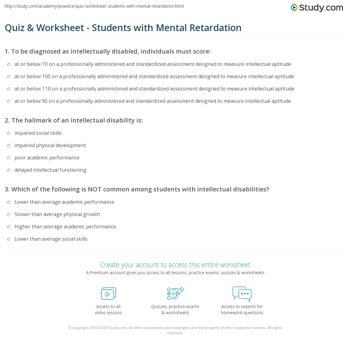 Worksheets For Learning Disabilities