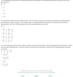Quiz \u0026 Worksheet - Subtracting Fractions with Variables   Study.com [ 1539 x 1140 Pixel ]