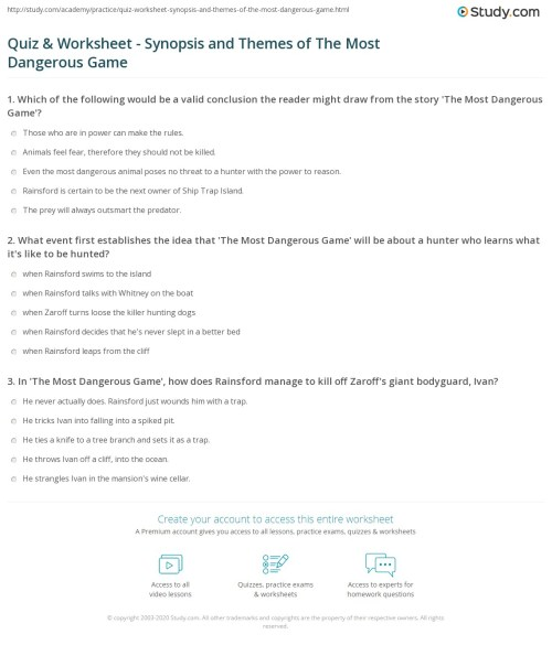 small resolution of 29 The Most Dangerous Game Vocabulary Worksheet - Worksheet Resource Plans