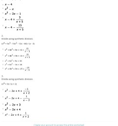 34 Dividing Polynomials Worksheet With Answers - Worksheet Resource Plans [ 1716 x 1140 Pixel ]