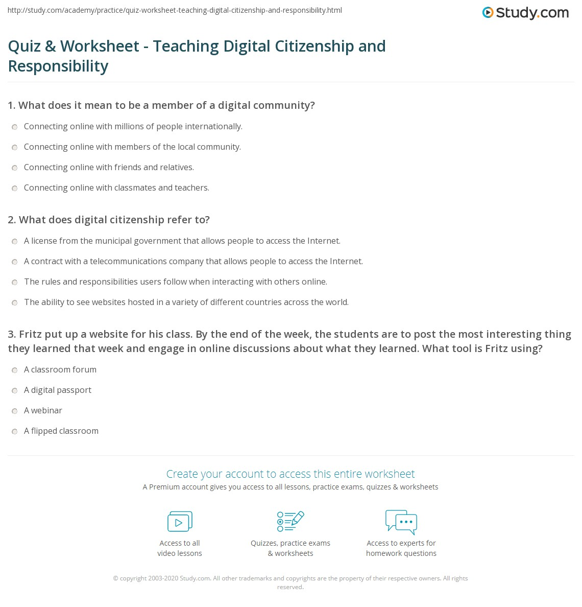 hight resolution of Teaching Citizenship Worksheets   Printable Worksheets and Activities for  Teachers