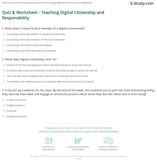 small resolution of Teaching Citizenship Worksheets   Printable Worksheets and Activities for  Teachers