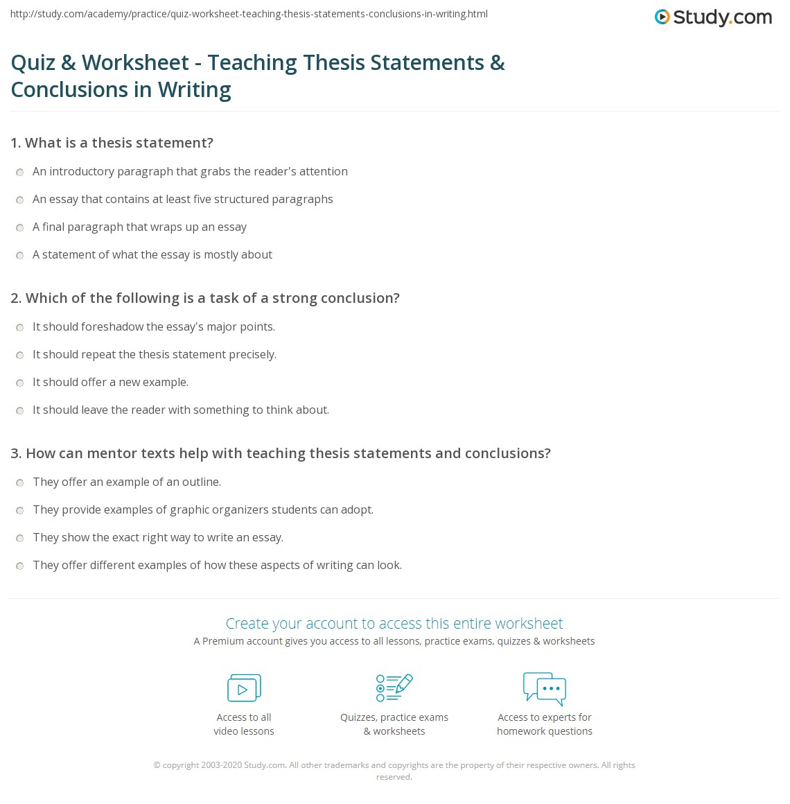 Thesis Statement For Argumentative Essay Research Paper