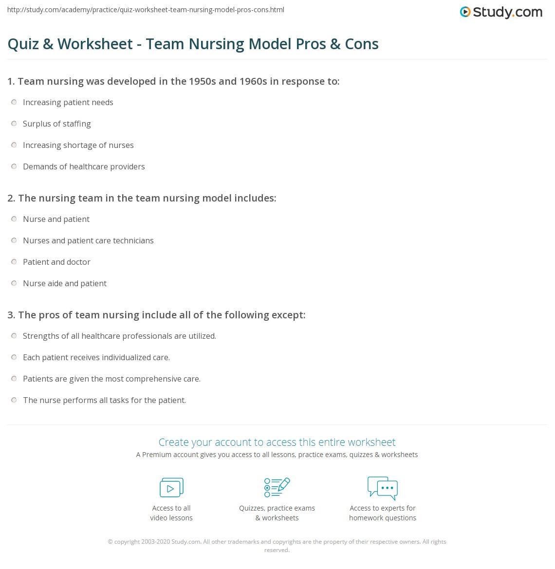Nursing Worksheet Definition