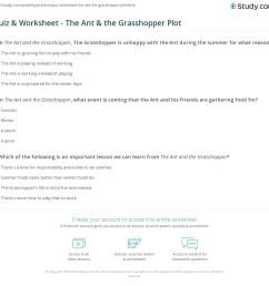 Quiz \u0026 Worksheet - The Ant \u0026 the Grasshopper Plot   Study.com [ 1121 x 1140 Pixel ]