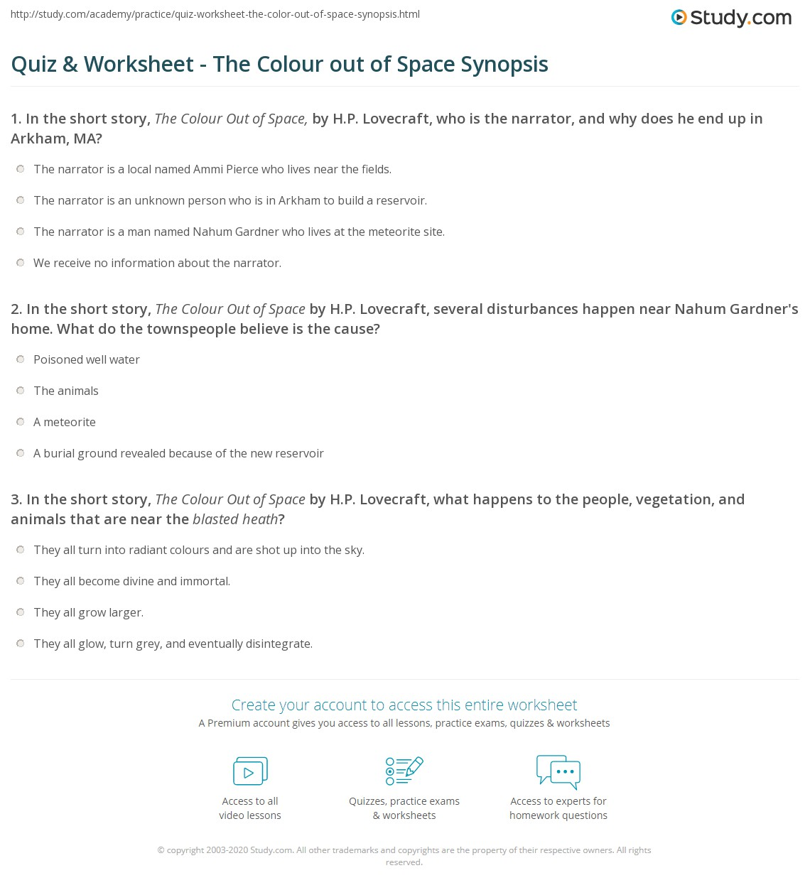 Quiz Amp Worksheet