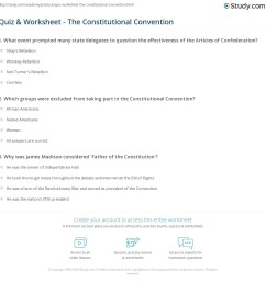 The Constitutional Convention Worksheet - Worksheet List [ 1169 x 1140 Pixel ]