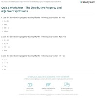 Distributive Property Worksheets | www.imgkid.com - The ...