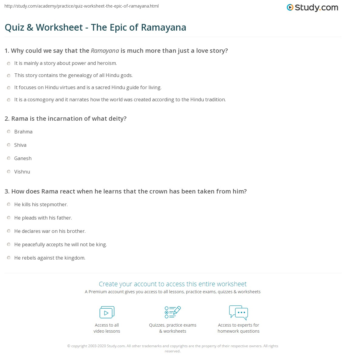 Ramayana Quiz Questions And Answers In Hindi
