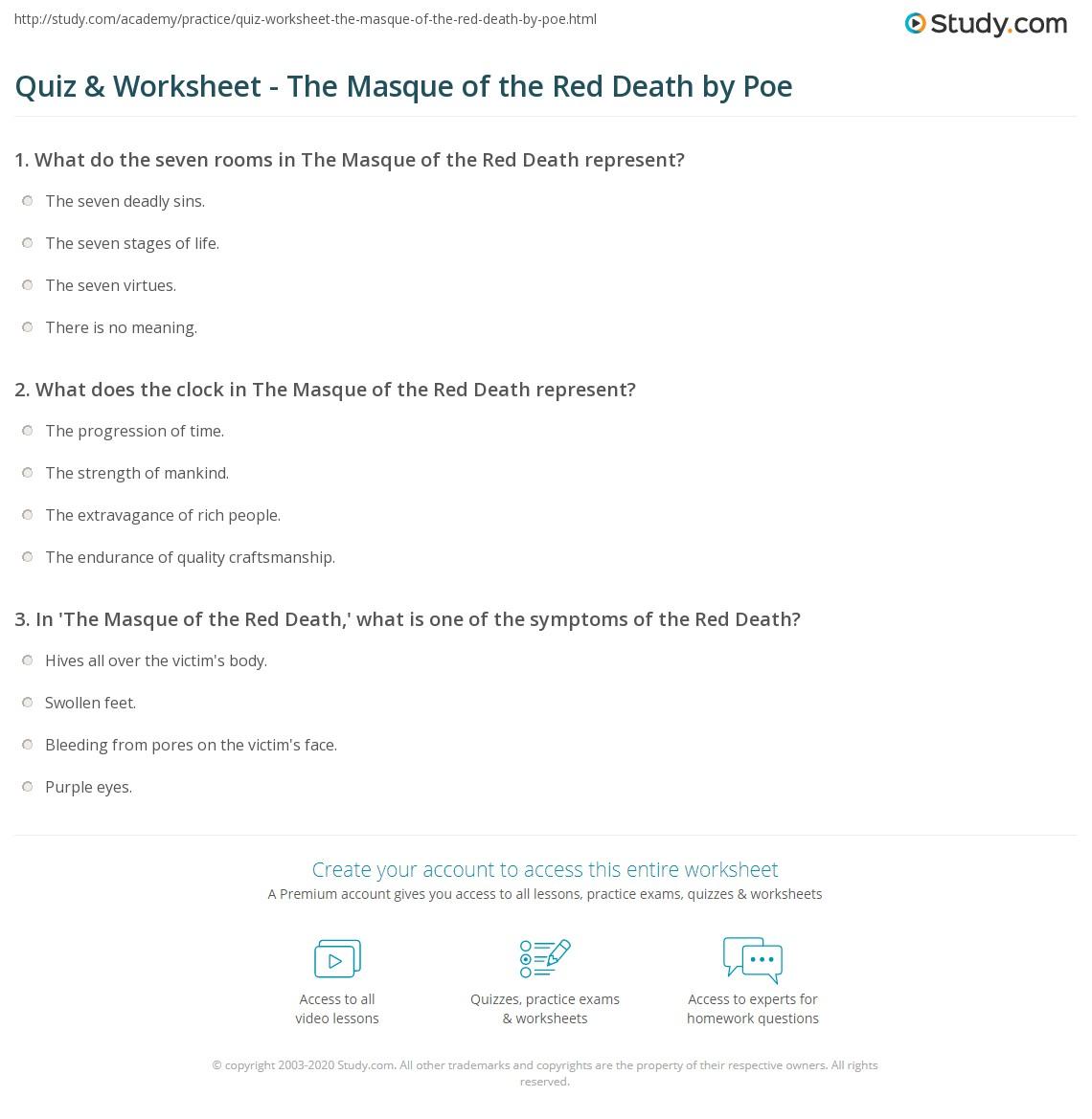 Seven Deadly Sins Worksheet