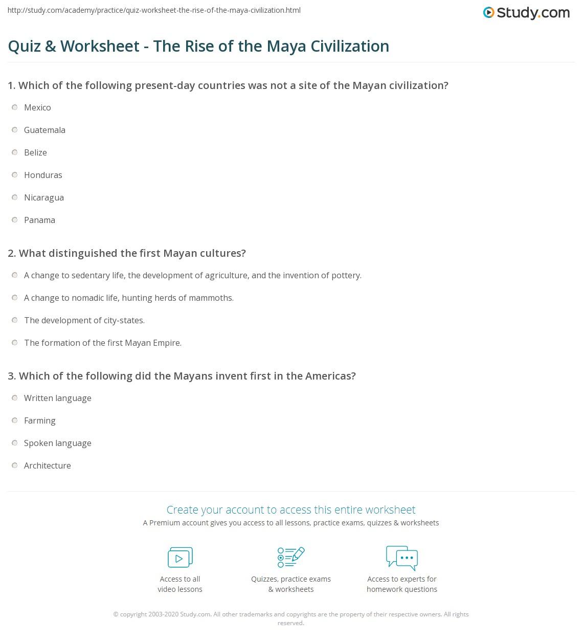 hight resolution of 8 Features Of Civilization Worksheet - Worksheet List