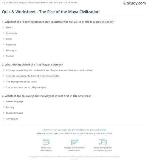 small resolution of 8 Features Of Civilization Worksheet - Worksheet List