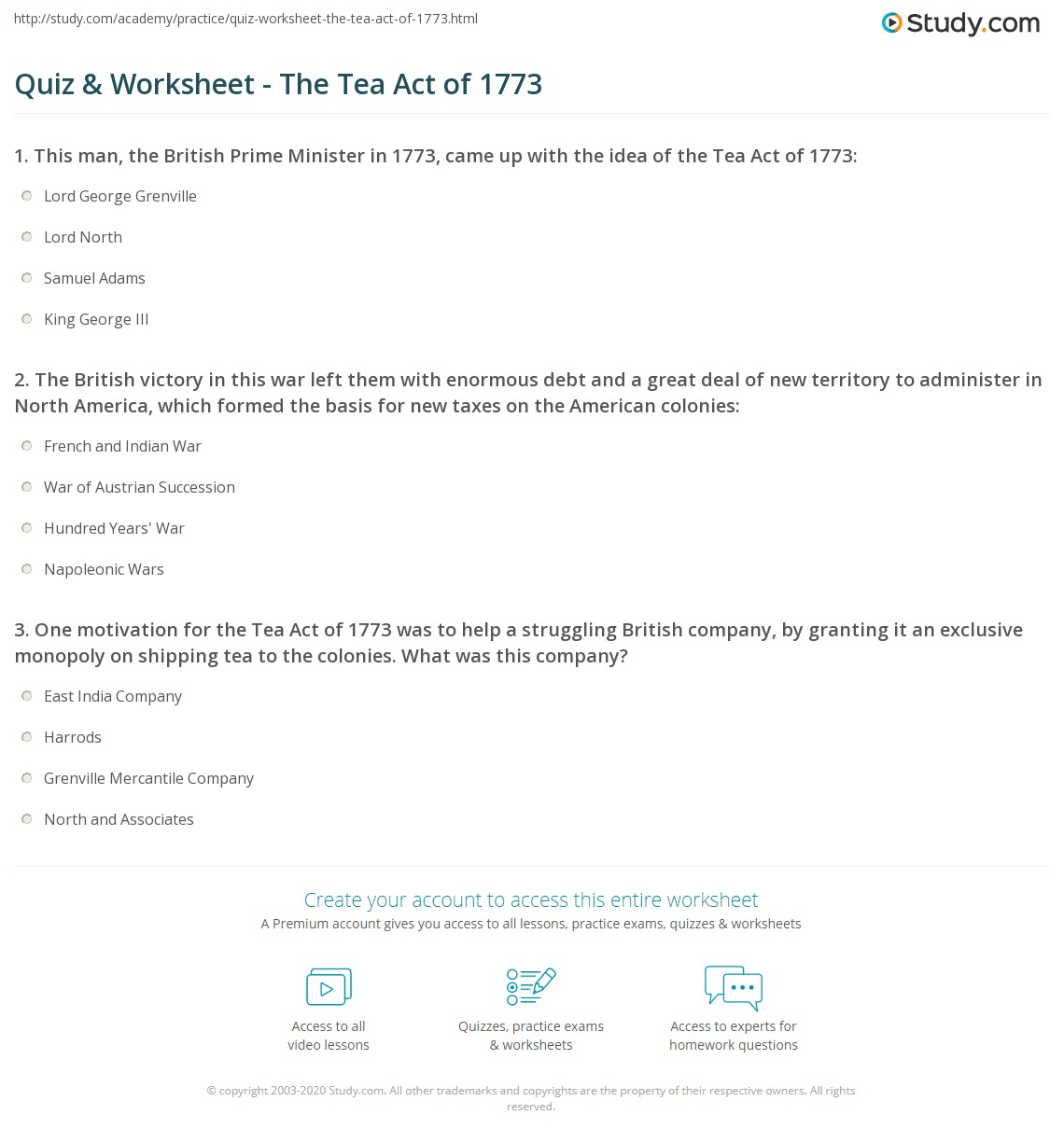 Tea Act America S Homepage And The Virtual Tour Of