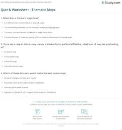 Quiz \u0026 Worksheet - Thematic Maps   Study.com [ 1197 x 1140 Pixel ]