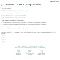 Quiz & Worksheet - Titration of a Strong Acid or Base ...