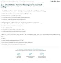 Worksheets. To Kill A Mockingbird Worksheets. waytoohuman ...