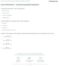 Solving Radical Equations Worksheet Algebra 1 - Tessshebaylo
